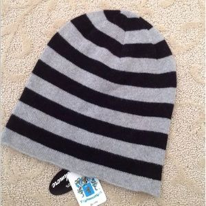 NWT Portolano Grey & Black Wool Hat One Size